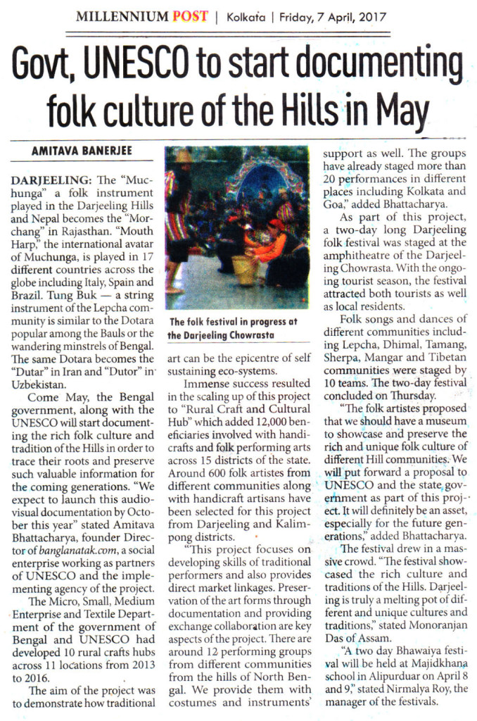 News-clippings-of-Darjeeling-Utsav-2017_Millenium-Post-7-April-2017
